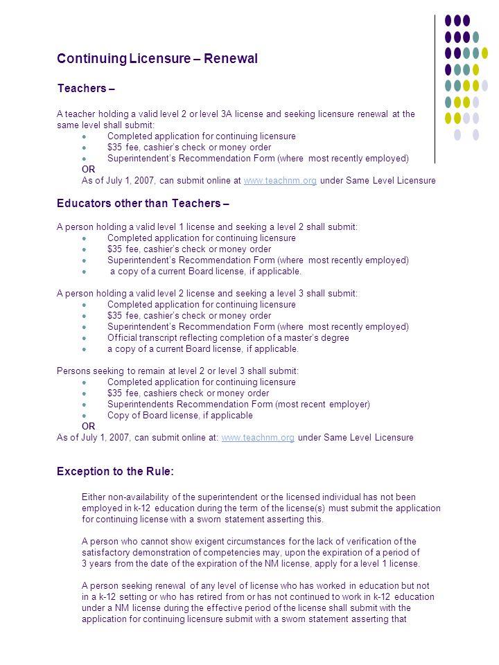 Informal Licensure Information Ppt Download