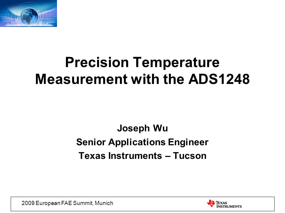 Precision Temperature Measurement with the ADS1248