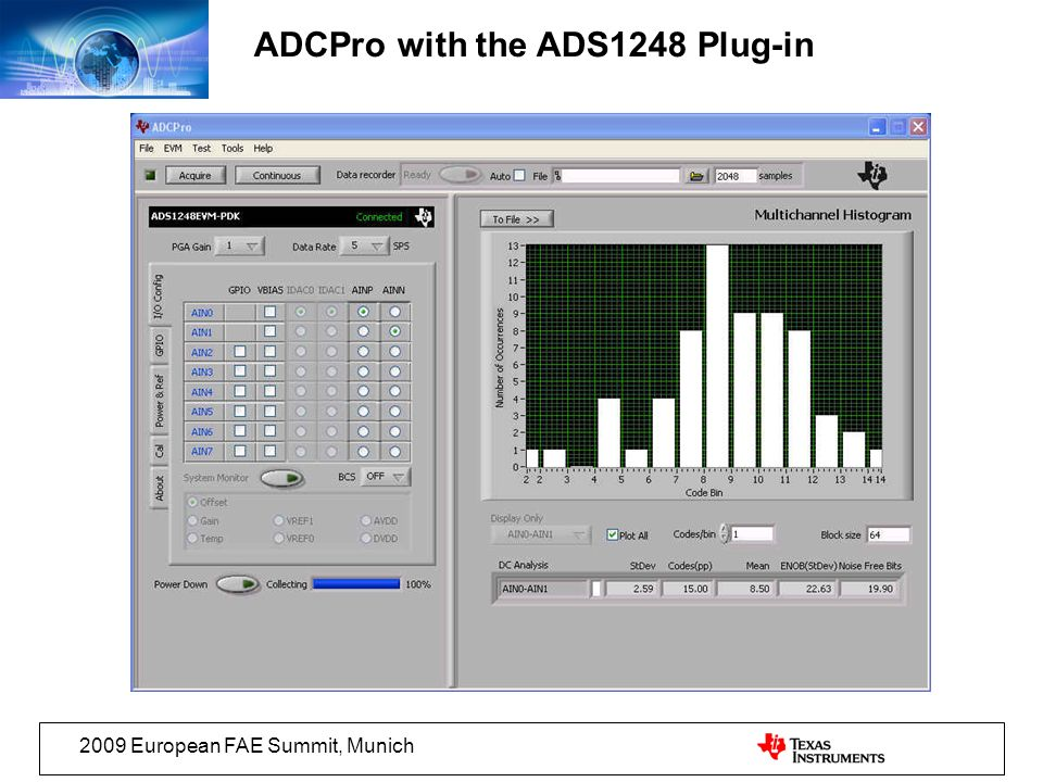 ADCPro with the ADS1248 Plug-in