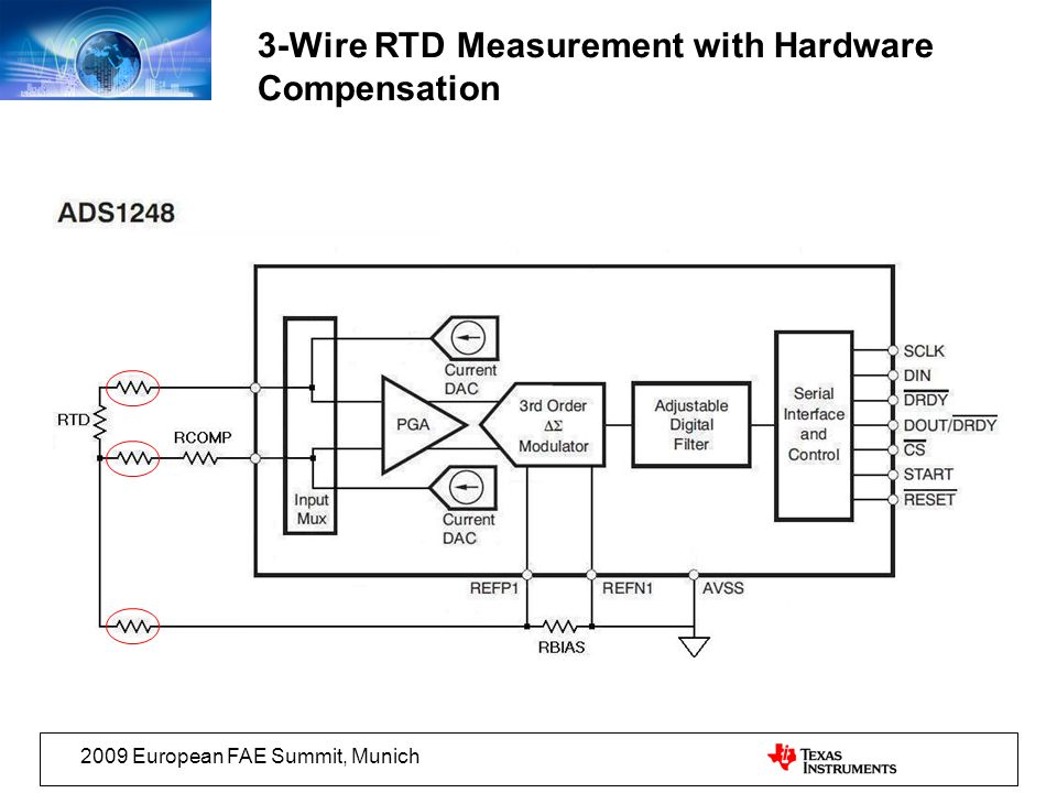 3-Wire RTD Measurement with Hardware Compensation