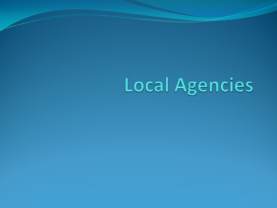 Local Agencies