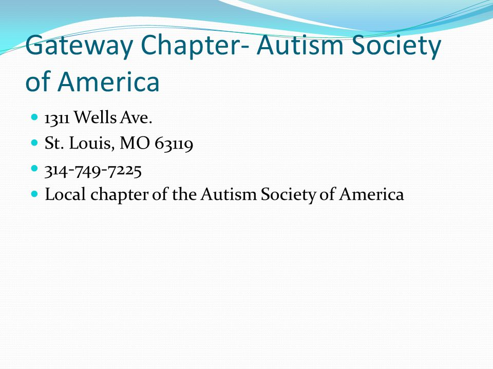 Gateway Chapter- Autism Society of America