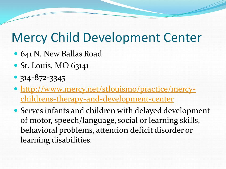 Mercy Child Development Center