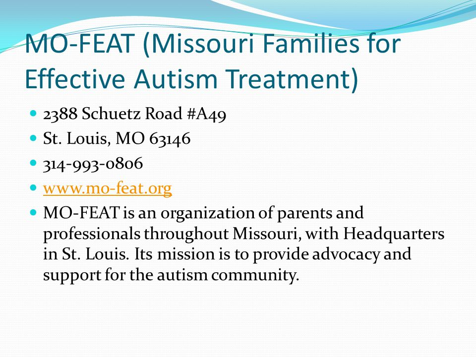 MO-FEAT (Missouri Families for Effective Autism Treatment)