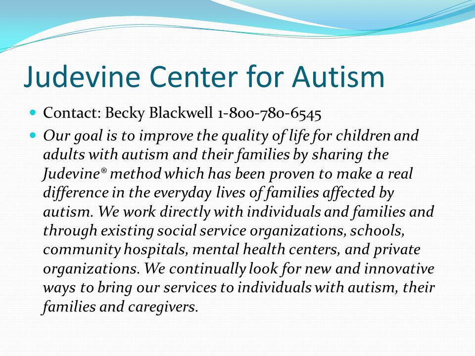 Judevine Center for Autism