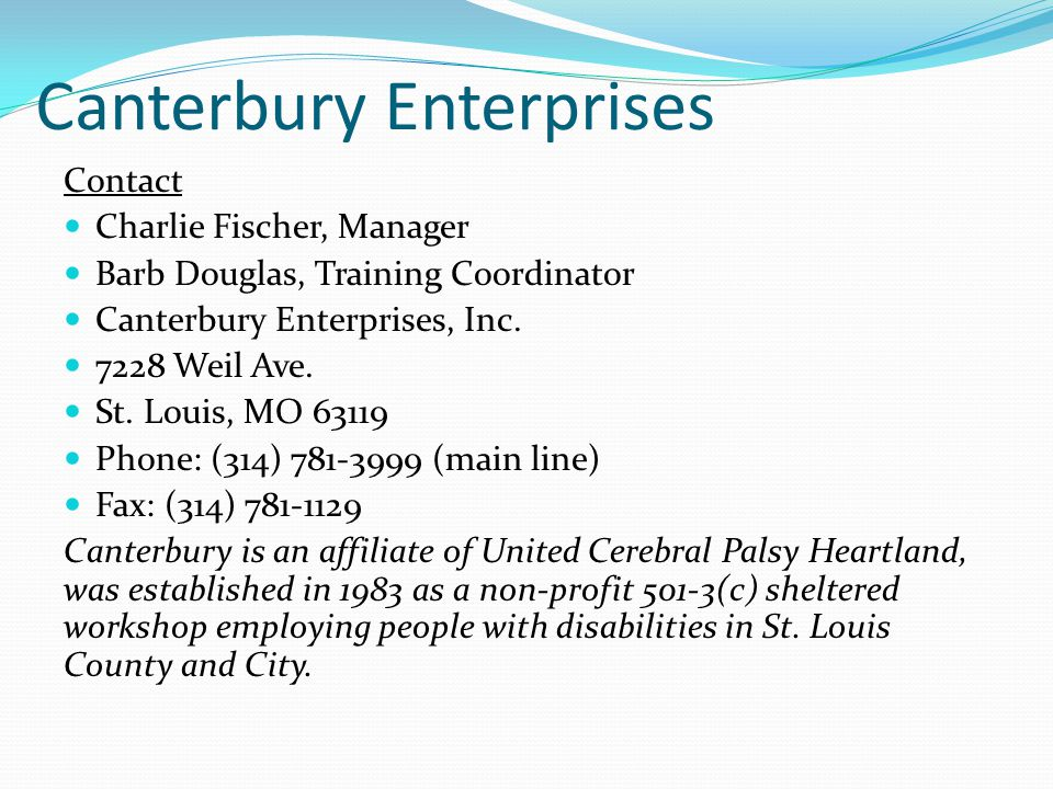 Canterbury Enterprises