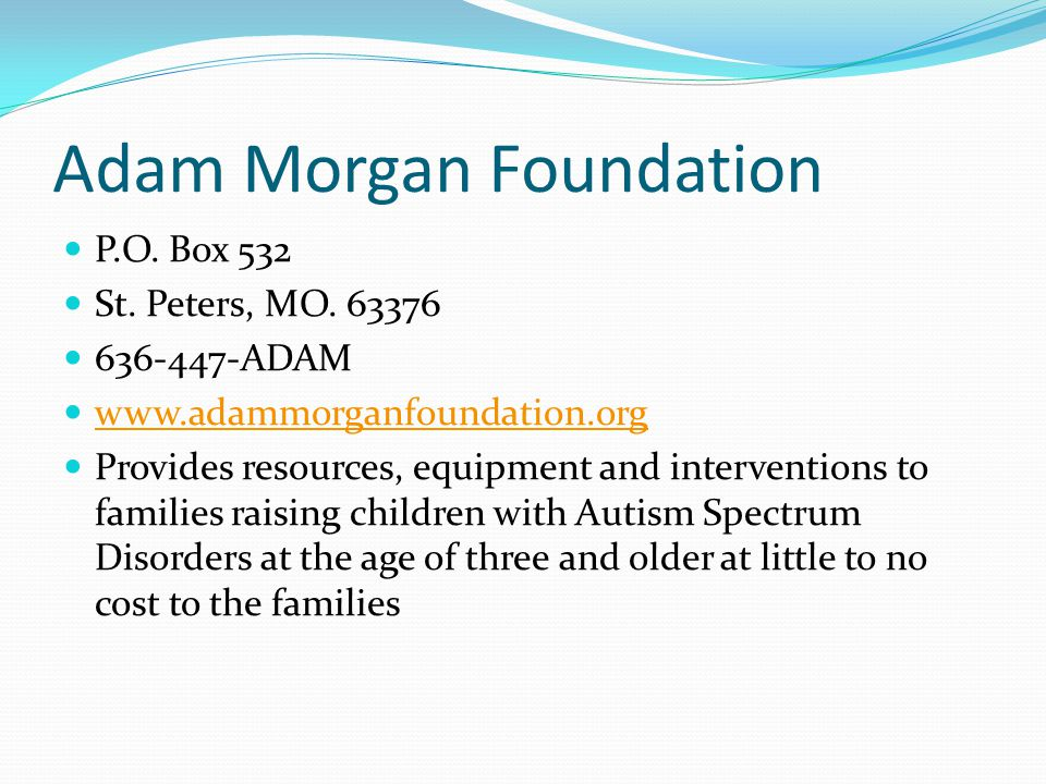 Adam Morgan Foundation