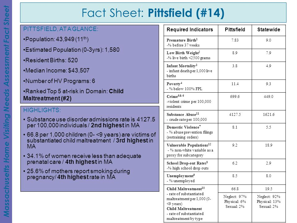 Fact Sheet: Pittsfield (#14)