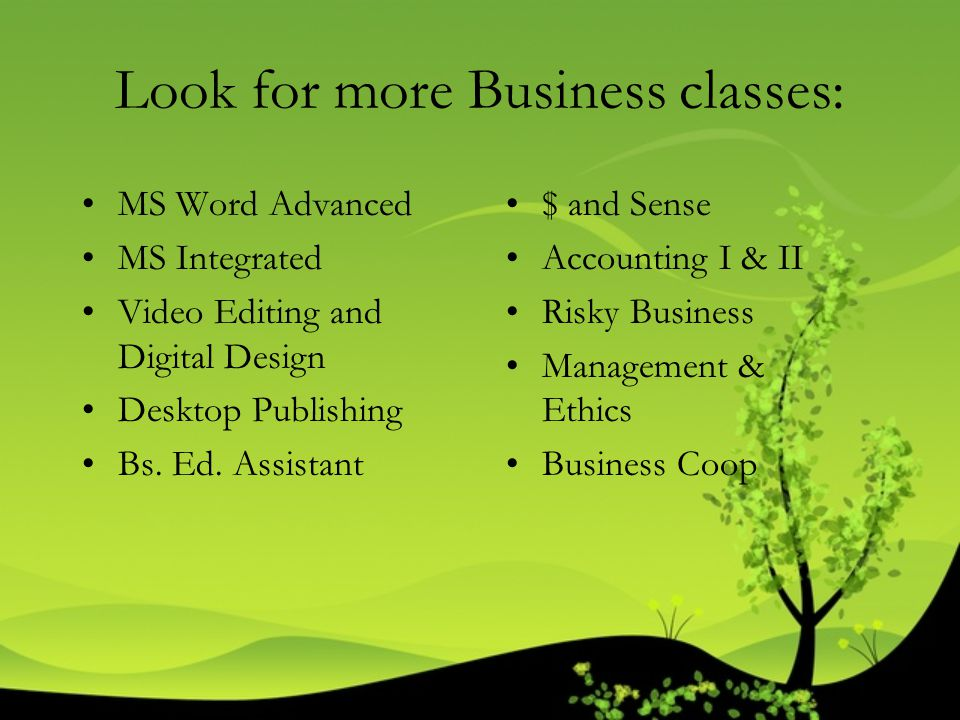 Look for more Business classes: