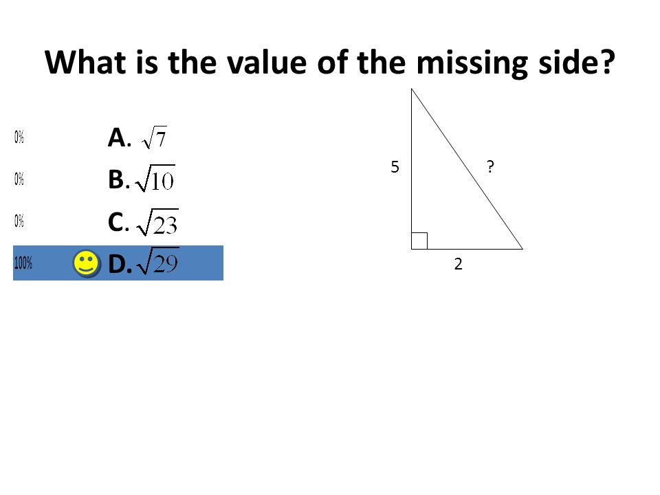 What is the value of the missing side