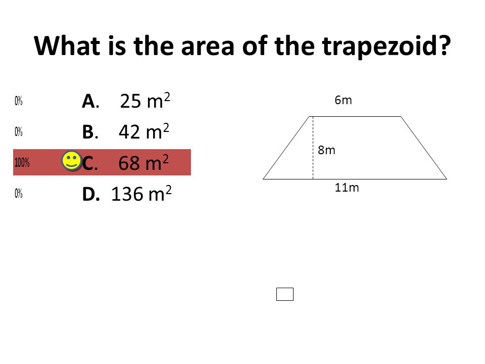 What is the area of the trapezoid