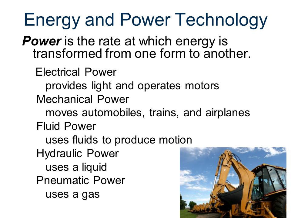 Energy and Power Technology