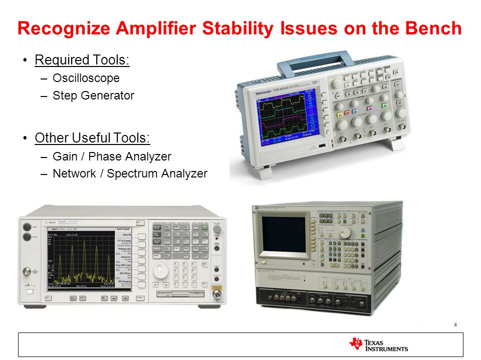 Recognize Amplifier Stability Issues on the Bench