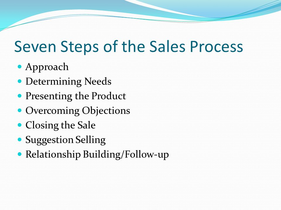 Seven Steps of the Sales Process