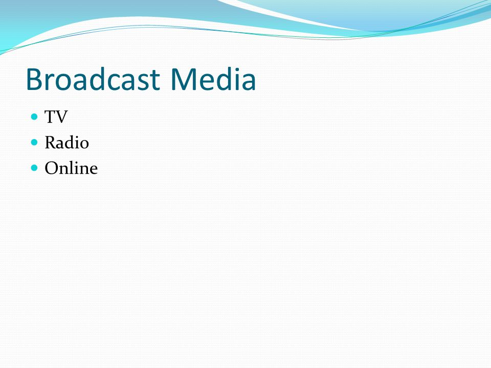 Broadcast Media TV Radio Online
