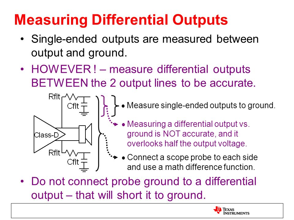Measuring Differential Outputs