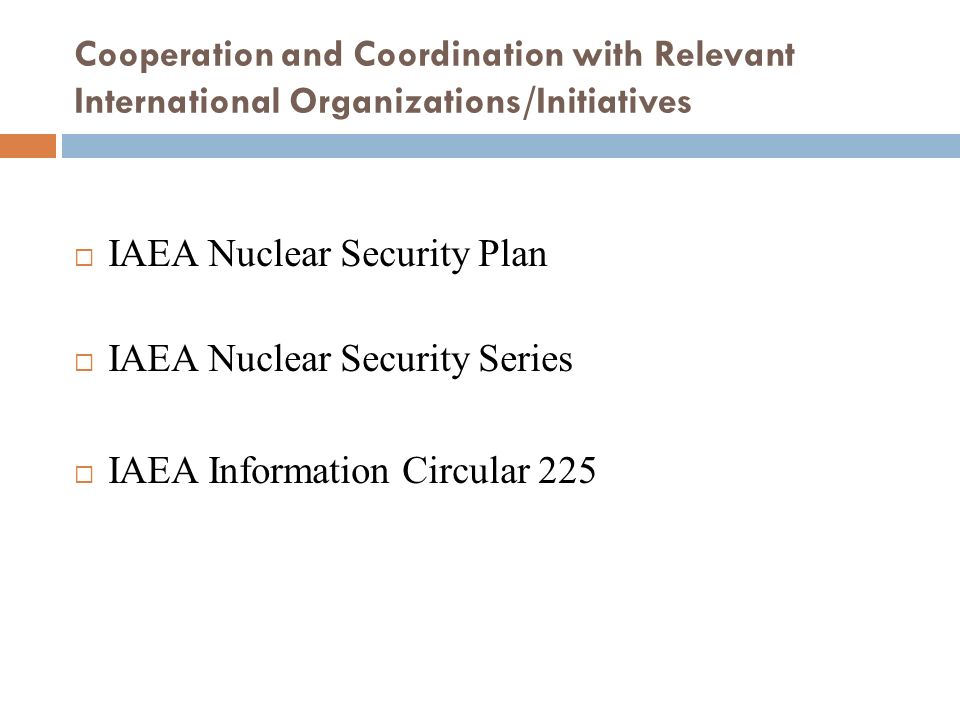 IAEA Nuclear Security Plan IAEA Nuclear Security Series
