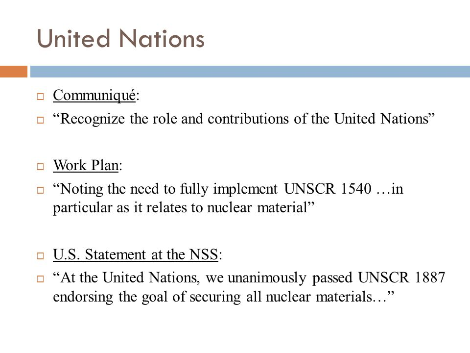 United Nations Communiqué: