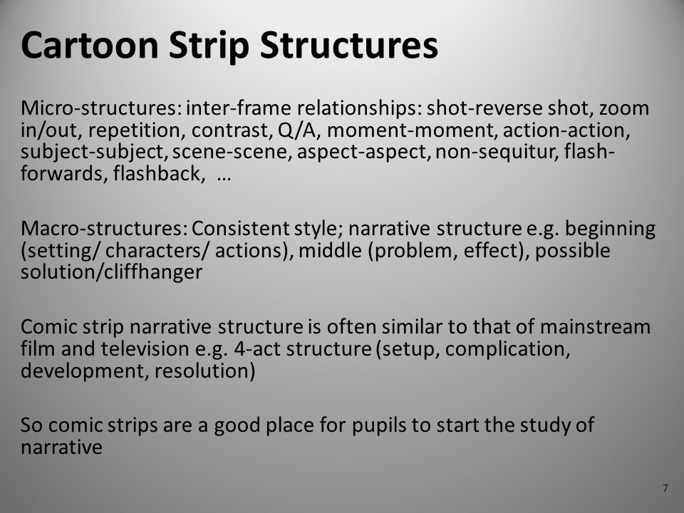 Cartoon Strip Structures