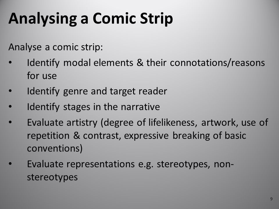 Analysing a Comic Strip