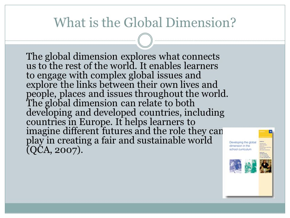What is the Global Dimension