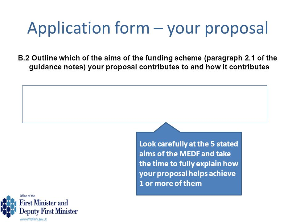 Application form – your proposal