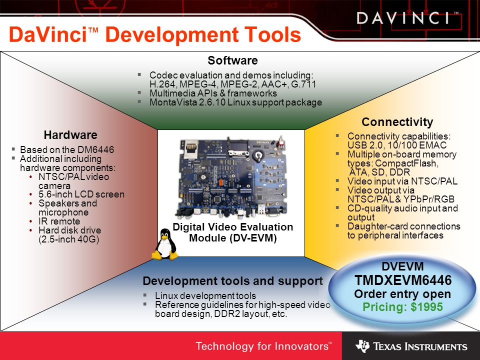 DaVinci™ Development Tools