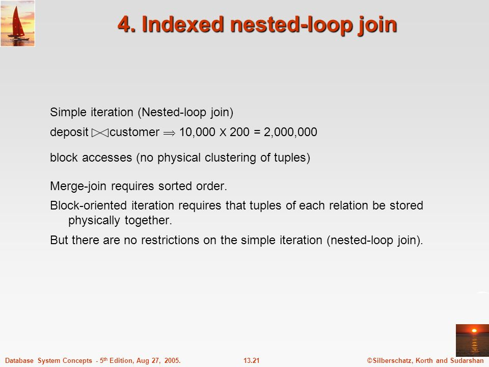 4. Indexed nested-loop join