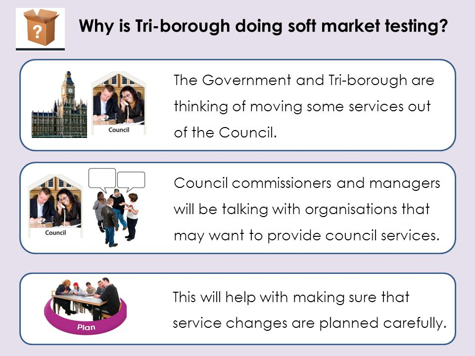Why is Tri-borough doing soft market testing
