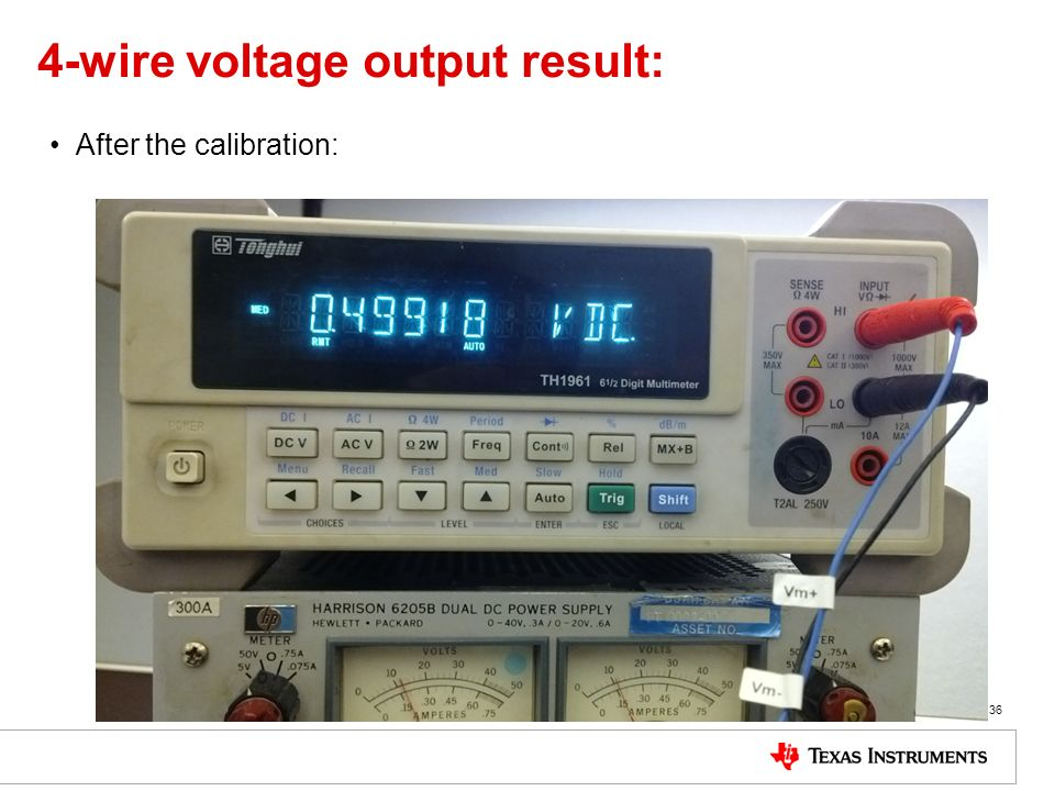 4-wire voltage output result: