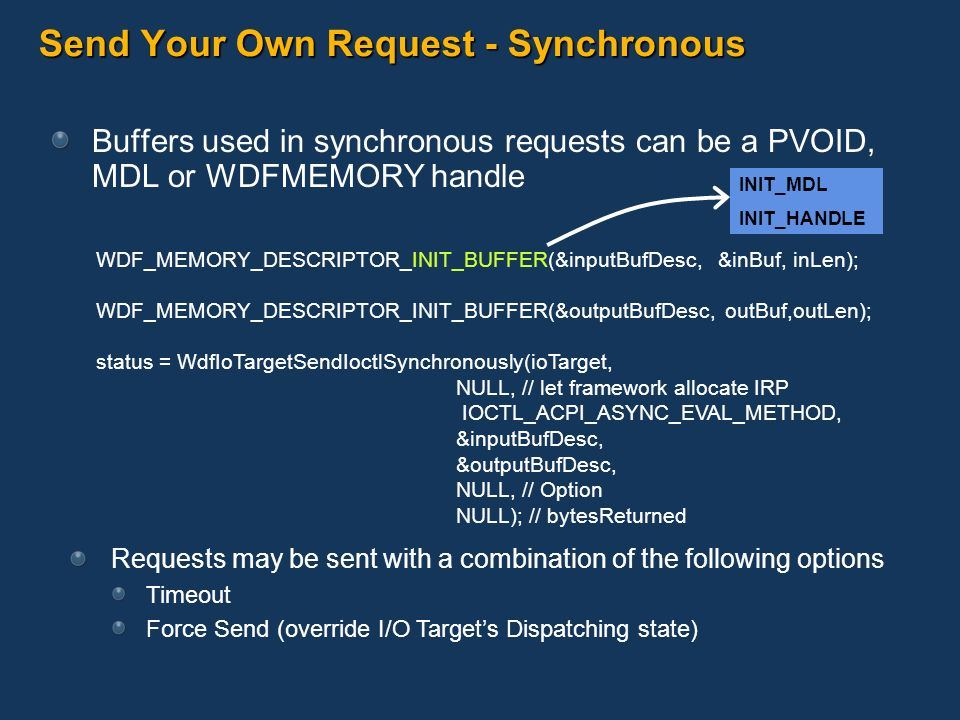 Send Your Own Request - Synchronous
