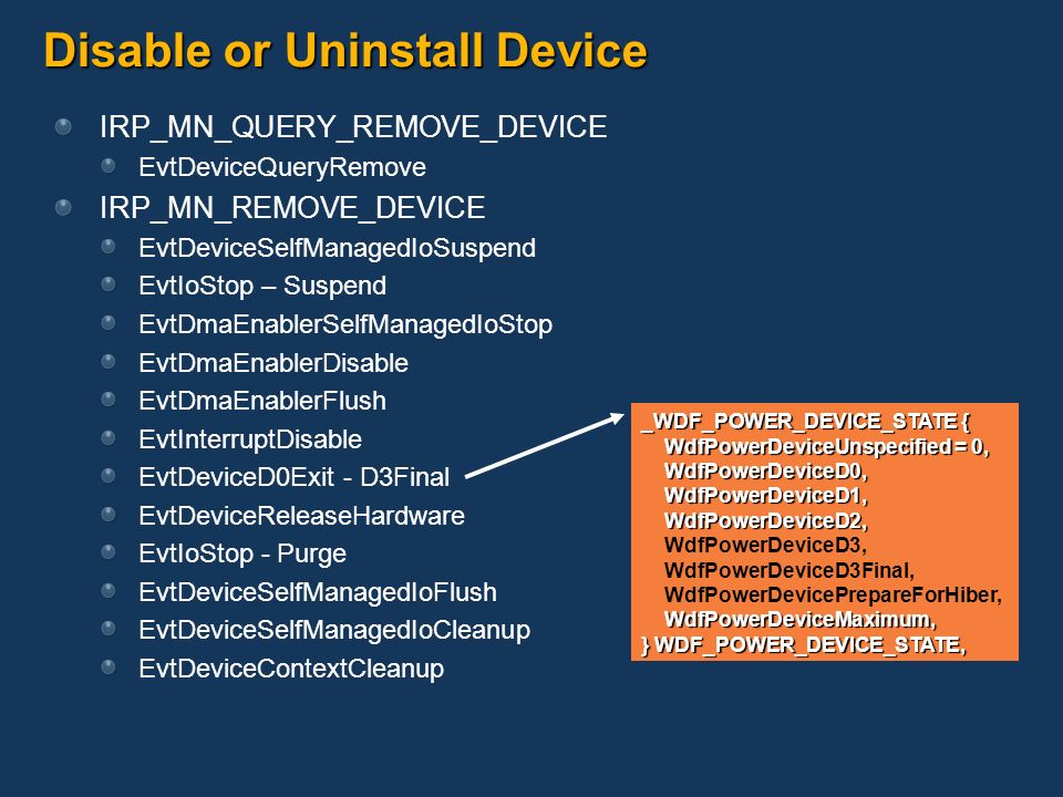 Disable or Uninstall Device