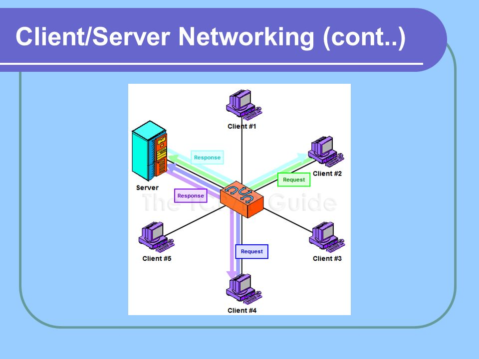 Client/Server Networking (cont..)