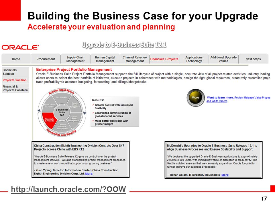 Building the Business Case for your Upgrade Accelerate your evaluation and planning