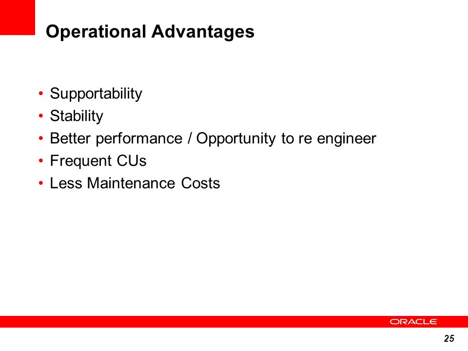 Operational Advantages