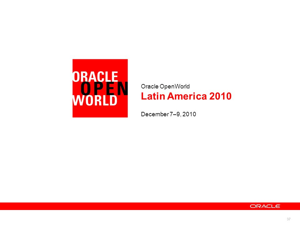 Oracle OpenWorld Latin America 2010