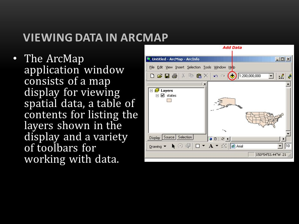 Viewing Data in ArcMap