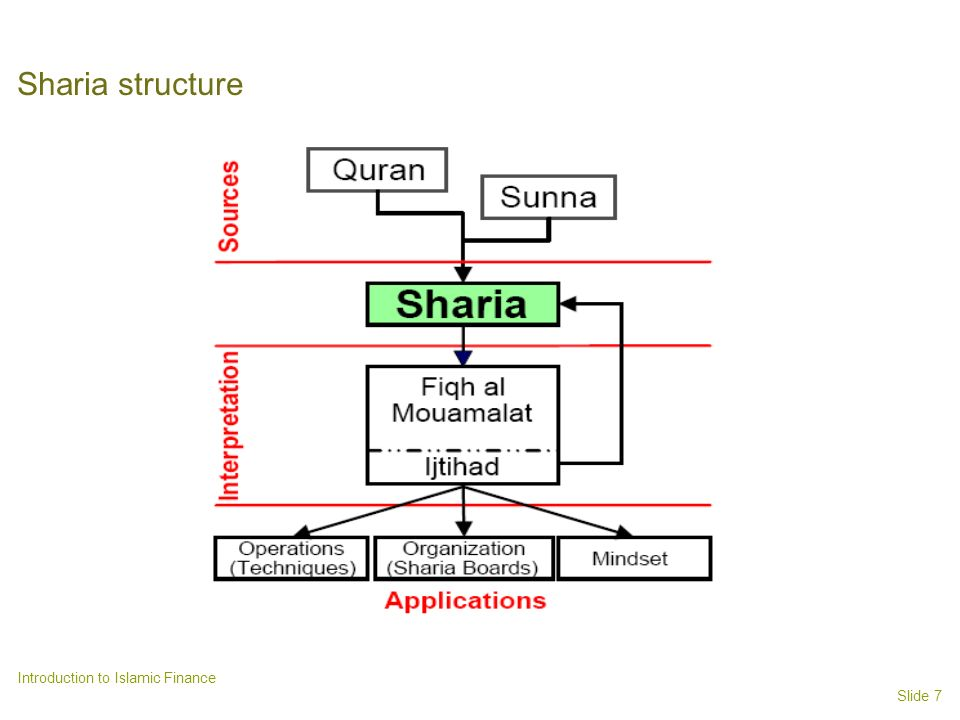 Sharia structure Introduction to Islamic Finance