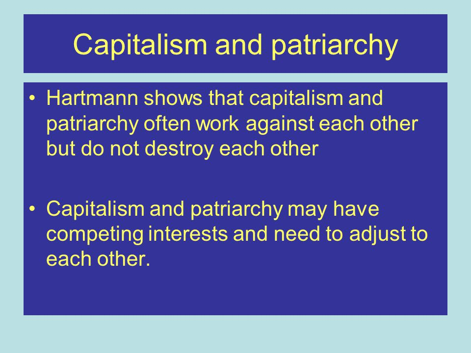 Capitalism and patriarchy