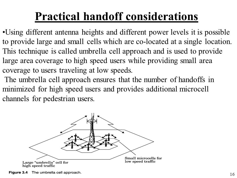Practical handoff considerations