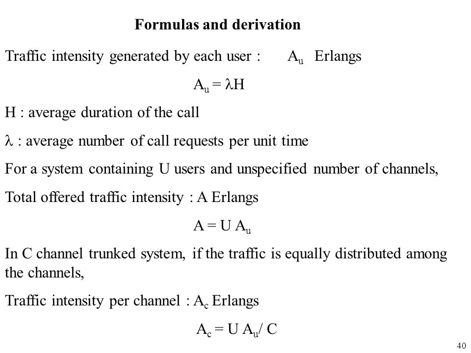 Formulas and derivation