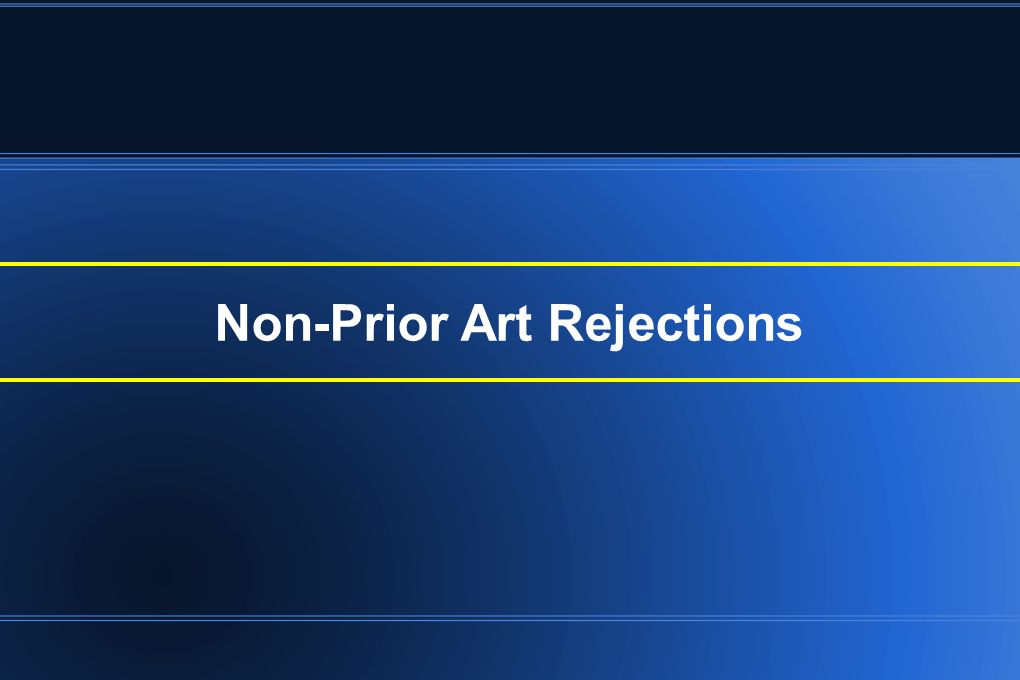 Non-Prior Art Rejections
