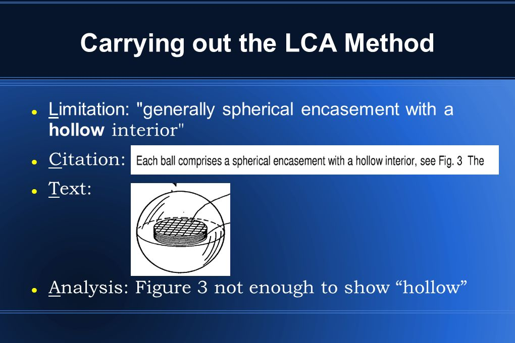 Carrying out the LCA Method