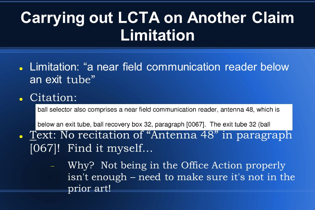 Carrying out LCTA on Another Claim Limitation