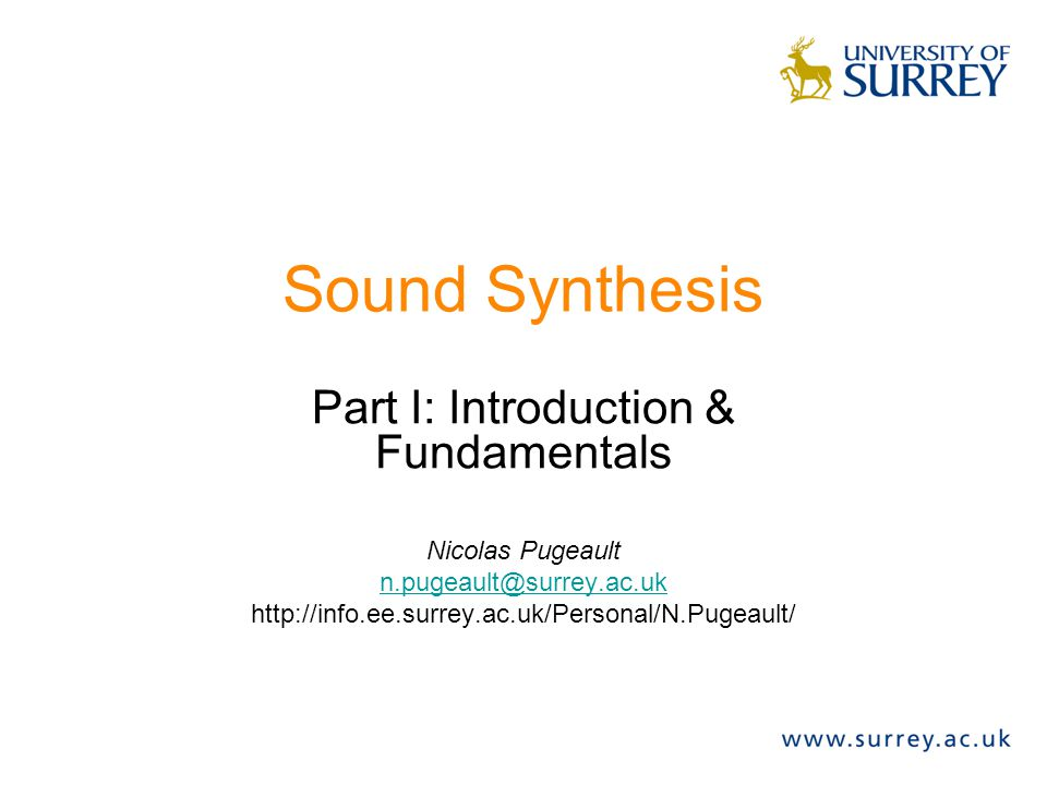 Part I: Introduction & Fundamentals