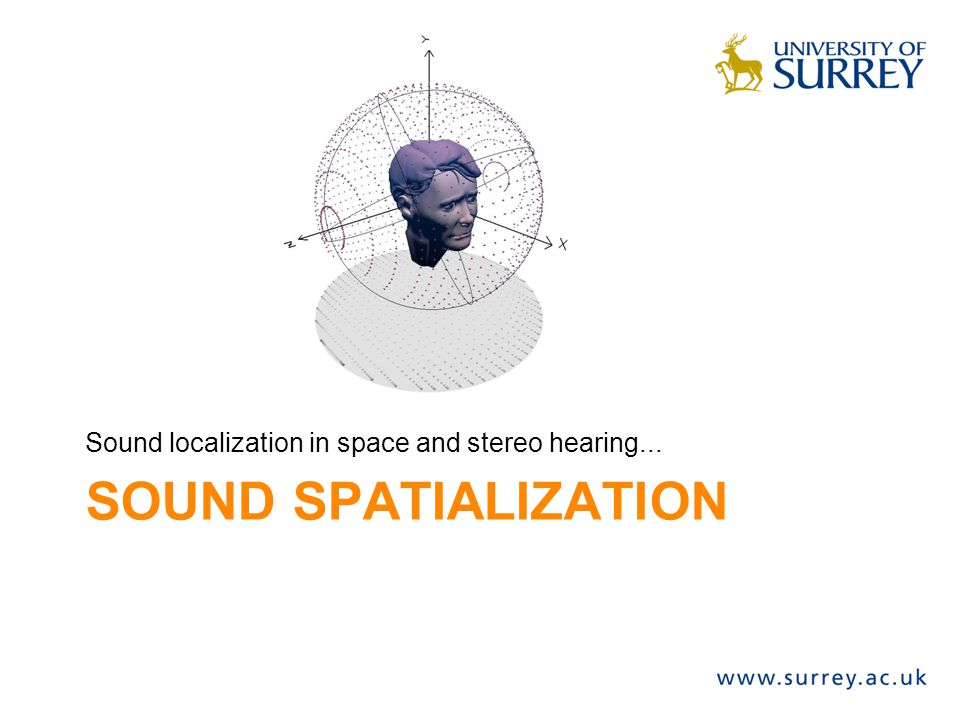 Sound localization in space and stereo hearing...