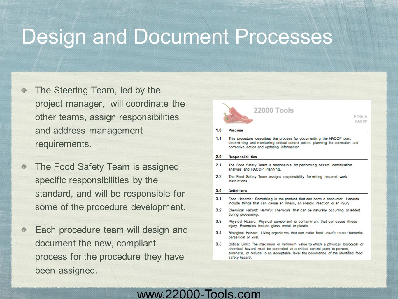 Design and Document Processes
