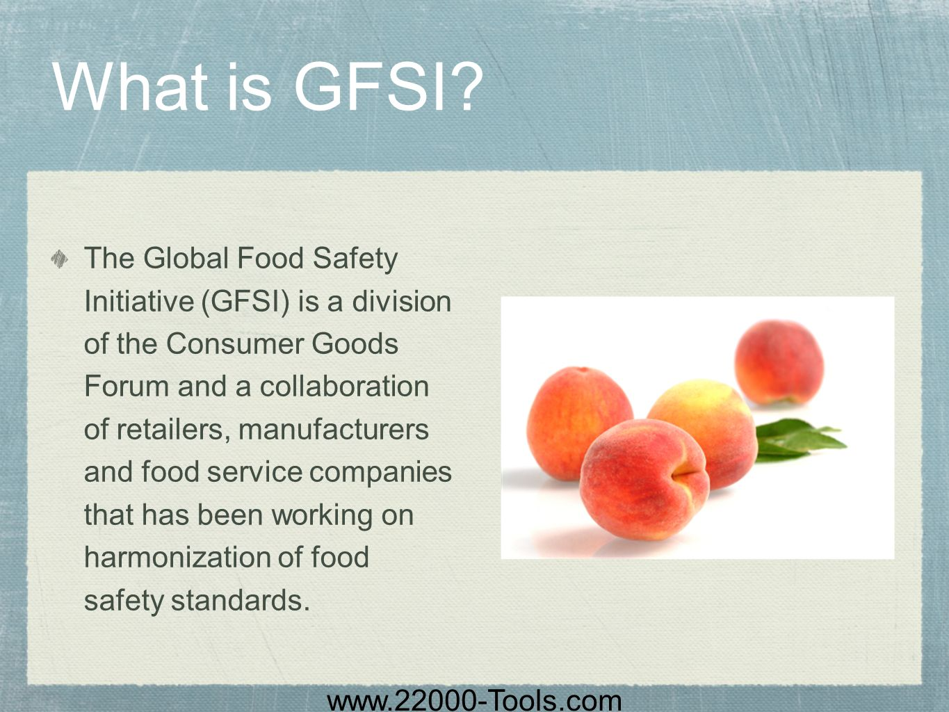 What is GFSI
