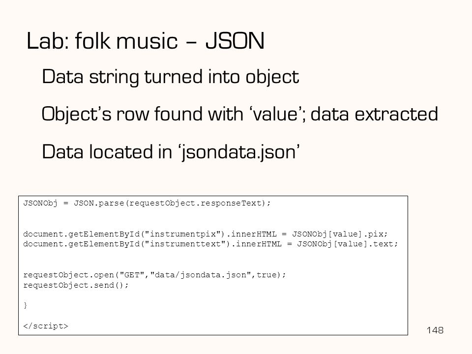 Lab: folk music – JSON Data string turned into object