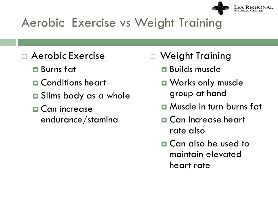 Aerobic Exercise vs Weight Training